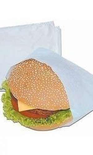 Saco plástico para hambúrguer