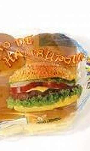 Saco plástico para pão de hambúrguer