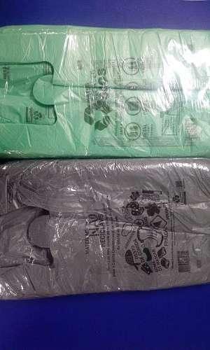 Sacola plástica descartável